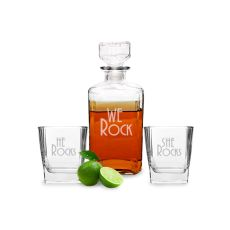 We Rock Decanter & Glass Set