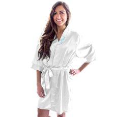 Bride White Satin Robe (L - Xl)