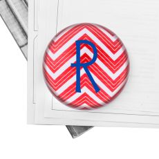 Personalized Chevron Domed Glass Paperweight