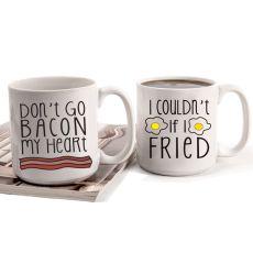 20 Oz. Bacon & Eggs Large Coffee Mugs (Set Of 2)
