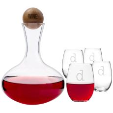 Personalized Wine Decanter & Glass Set