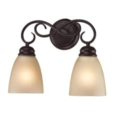 Chatham 2 Light Bath Bar In Oil Rubbed Bronze