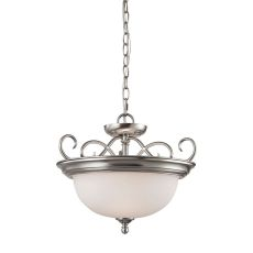 Chatham 2 Light Convertible In Brushed Nickel