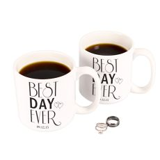 Personalized Best Day Ever 20 Oz. Large Coffee Mugs (Set Of 2)