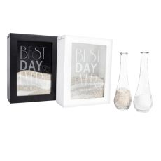 Personalized Best Day Ever Black Unity Sand Ceremony Shadow Box Set