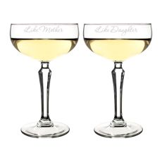 8.25 Oz. Mother Daughter Champagne Coupe Flutes
