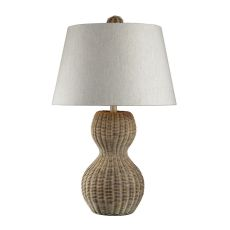 Sycamore Hill Rattan Table Lamp In Light Natural Finish