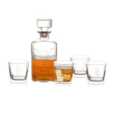 Personalized Western 5 Pc. Decanter Set