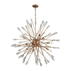 Serendipity 9 Light Chandelier In Matte Gold With Clear Bubble Glass