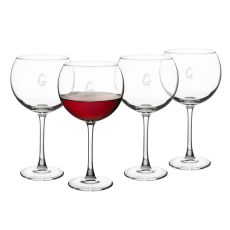 Personalized Spooky 19 oz. Red Wine Glasses (Set of 4)
