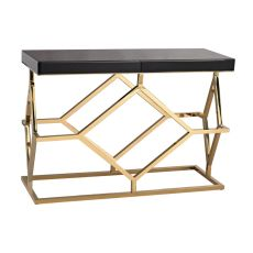 Deco Console Table In Black And Gold