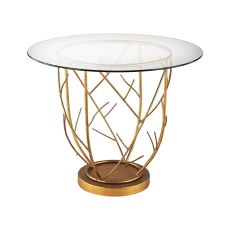 Thicket Entry Table In Gold Leaf And Clear Glass