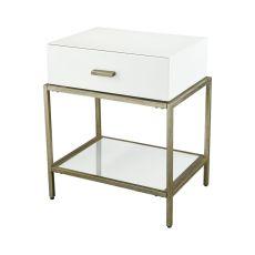 Evans White Side Table