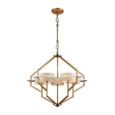 Warrenton 5 Light Chandelier In Matte Gold With Polished Nickel Accents And Beige Linen Shades Included