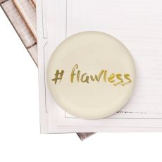 #Flawless Domed Glass Paperweight