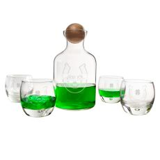 St. Patrick'S Day Glass Decanter With Wood Stopper Set