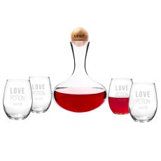 Love Potion Wine Decanter & Glass Set