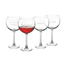 19 Oz. Valentine Red Wine Glasses (Set Of 4)