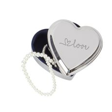 Love Silver Heart Keepsake Box