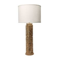 Fluer De Lis 1 Light Table Lamp In Aged Stone