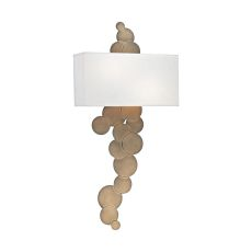 Holepunch 2 Light Wall Sconce In Gold Leaf