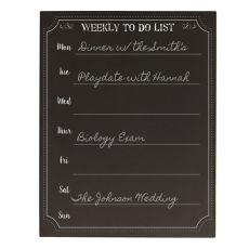 Personalized Weekly To-Do Chalkboard Organizer