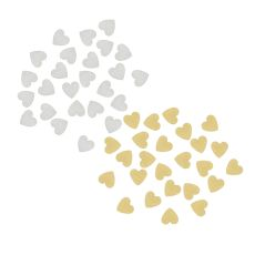 Gold Wood Hearts For Heart Drop Guest Book. Set Of 25 Pc.
