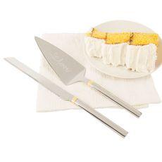 Golden Love Cake Serving Set