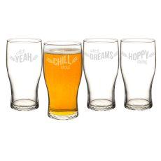19 Oz. Beer Pun Pilsner Glasses