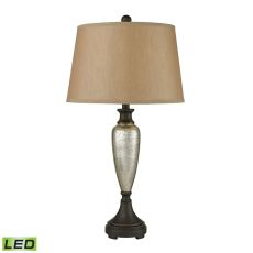 Caldeon Led Table Lamps In Antique Mercury With Bronze Accents