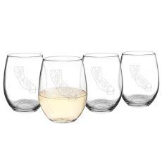 21 Oz. My State Stemless Wine Glasses