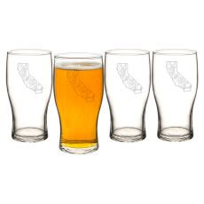 My State 19 Oz. Beer Pilsner Glasses