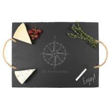 Personalized Compass Slate Serving Board