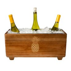 Personalized Pineapple Wooden Wine Trough