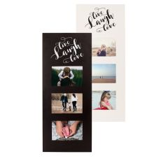 Live Laugh Love Multi Photo Frame, Black