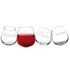 Witchy Woman Tipsy Wine Glasses