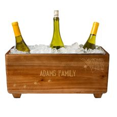 Personalized Halloween Wooden Wine Trough