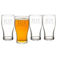 19 Oz. Beer Merry Pilsner Glasses
