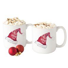 Personalized Oh What Fun Santa Hat 20 Oz. Large Coffee Mugs