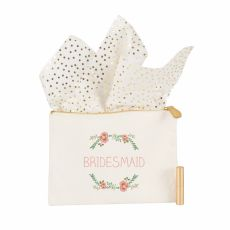 Maid Of Honor Floral Canvas Clutch