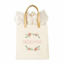 Maid Of Honor Floral Canvas Tote