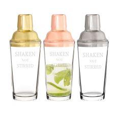 """Shaken Not Stirred"" 20 Oz. Cocktail Shaker, Gold"