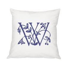 "Personalized Floral Initial 16"" Throw Pillow"