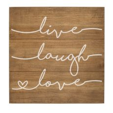 Live Laugh Love Rustic Wood Sign