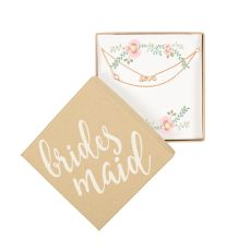 Rose Gold Maid Of Honor Love Bracelet