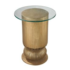 Sock Bun Side Table In Gold Leaf