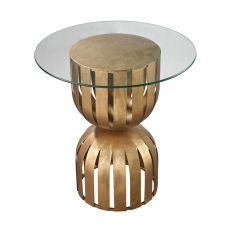 Olympia Side Table In Gold Leaf
