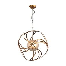 Oriona 3 Light Pendant In Antique Gold Leaf - Small