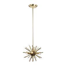 Starburst 3 Light Pendant In Gold