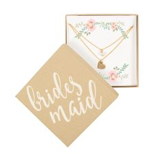 Bridesmaid Double Chain Necklace, Gold